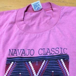 Vintage 1989 Hot Pink Navajo Classic Design Shirt!